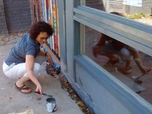 Painting the window frames